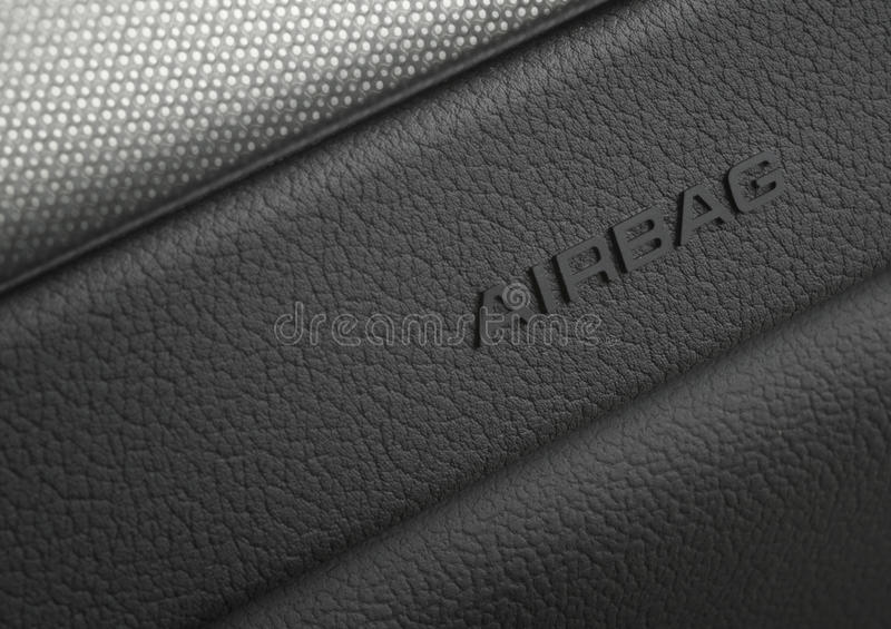 Macro Photograph of a car airbag security system royalty free stock photo