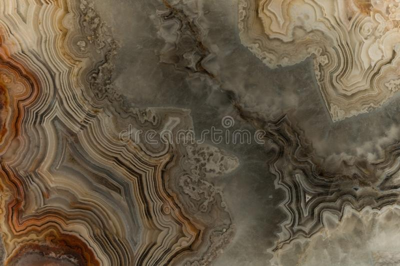 A macro photograph of southwest Agate slab. A macro photograph of an example of Agate shows it`s detail. Agates of all kinds can be found in the desert stock image