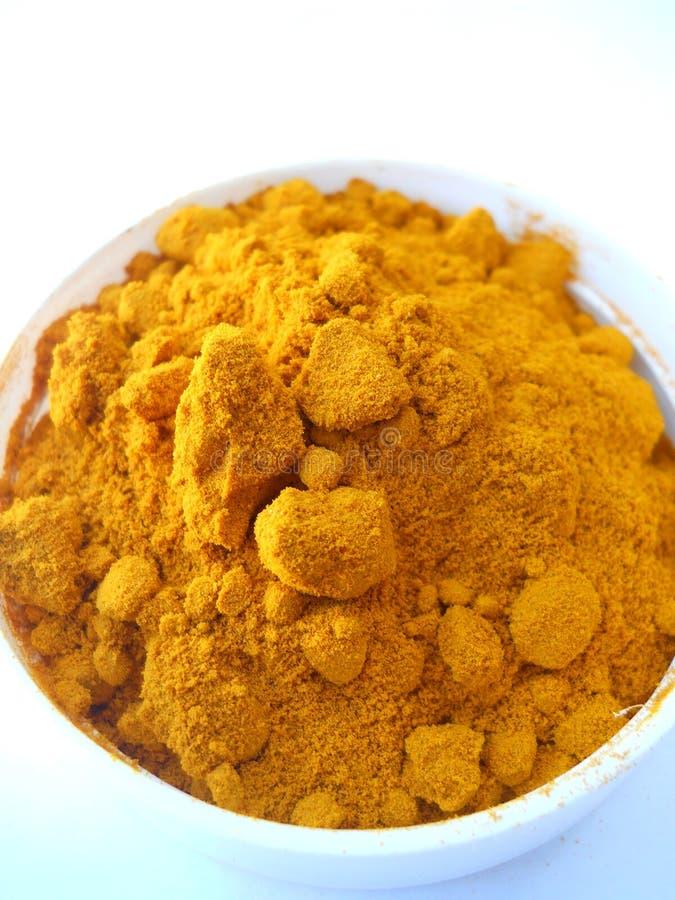 Macro Photograph of Turmeric Powder royalty free stock image