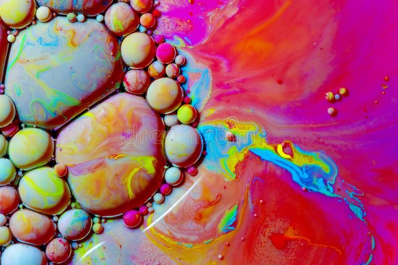 Macro photography of colorful bubbles XXXI stock photography