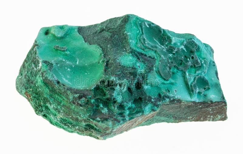 raw malachite stone on white royalty free stock photos