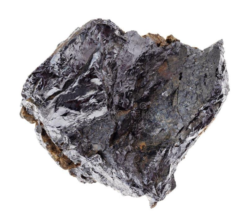 rough ilmenorutile stone on white stock photo