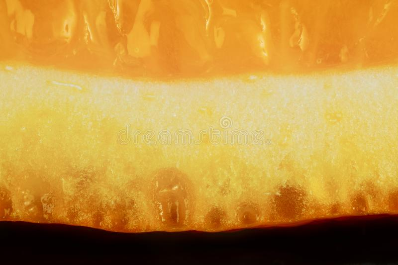 Macro of orange peel stock photography
