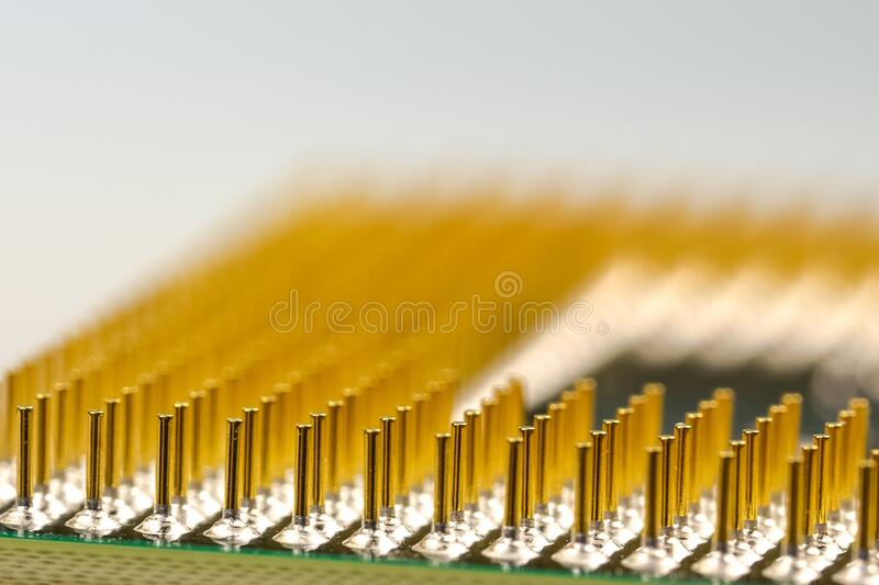 Macro Photography Of Processor Pins Free Public Domain Cc0 Image