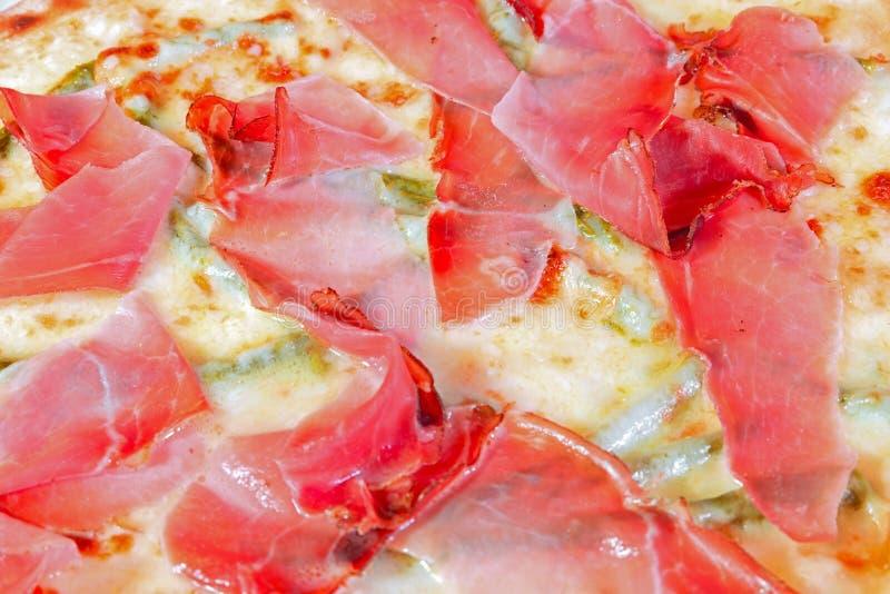 Macro of pizza royalty free stock photos