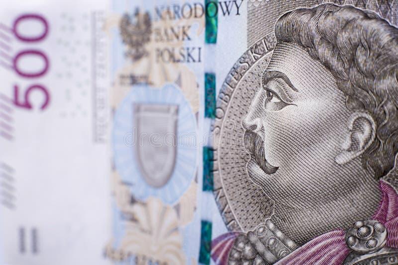 Macro polonês da cédula 500 imagens de stock royalty free