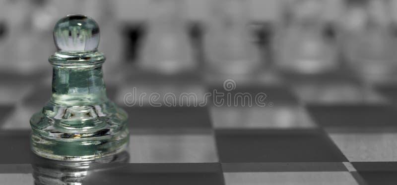 Macro primo piano della figura di scacchi fotografia stock libera da diritti
