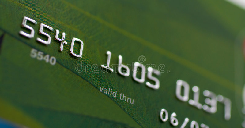 Macro projectile de par la carte de crédit photos libres de droits