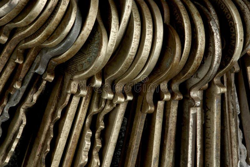 Macro projectile des clés photo stock