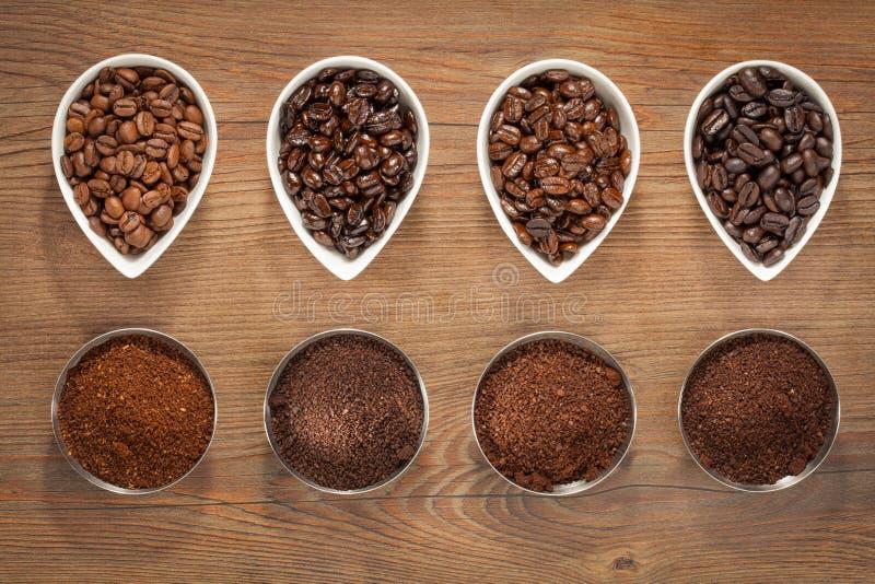 Macro projectile des grains de café image libre de droits