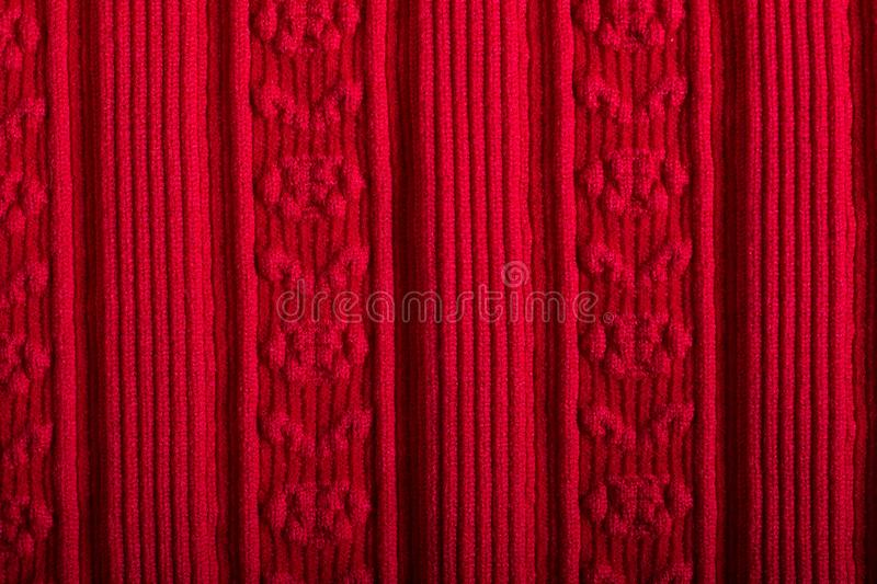 Macro of red type of cloth for background. Close up of red type of cloth for background or wallpaper royalty free stock image