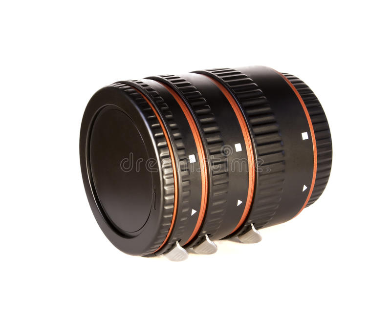 Macro rings for a lens royalty free stock photography
