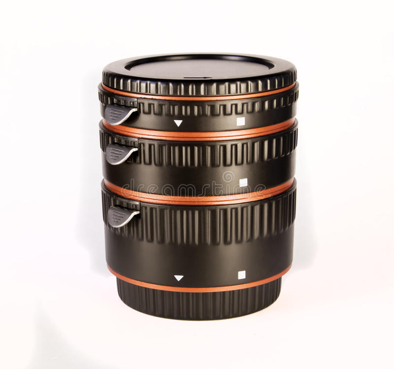 Macro rings for a lens royalty free stock photo