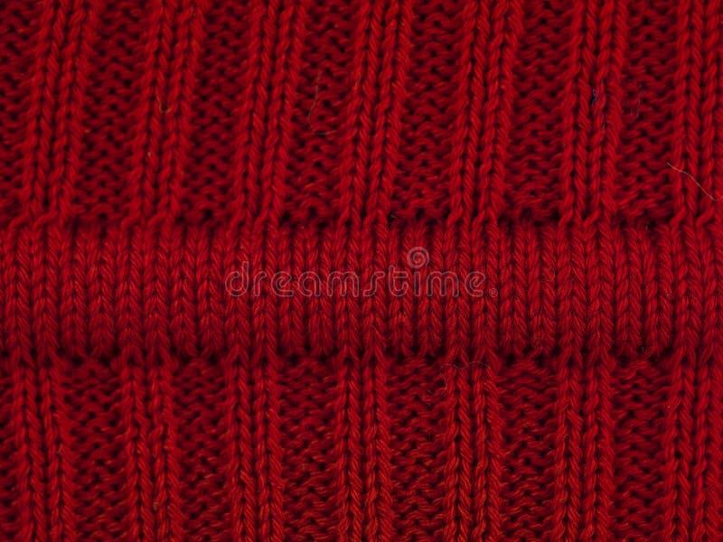 Macro rode sweater I royalty-vrije stock afbeelding