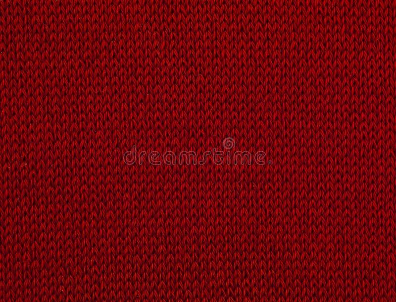 Macro rode sweater III royalty-vrije stock fotografie