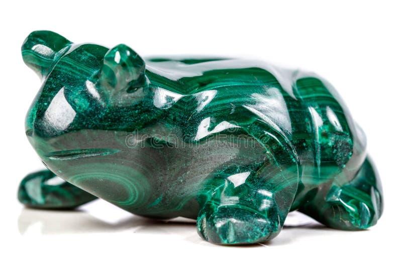 Macro rospo di pietra minerale da malachite fotografia stock
