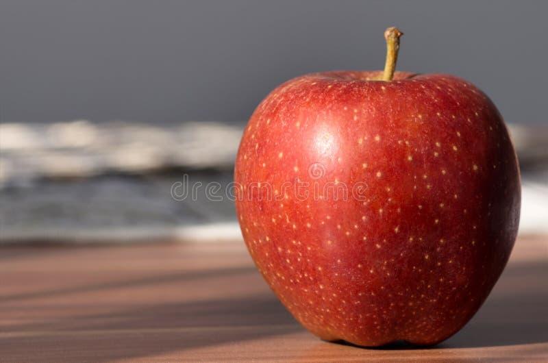 Macro rouge de pomme photo stock