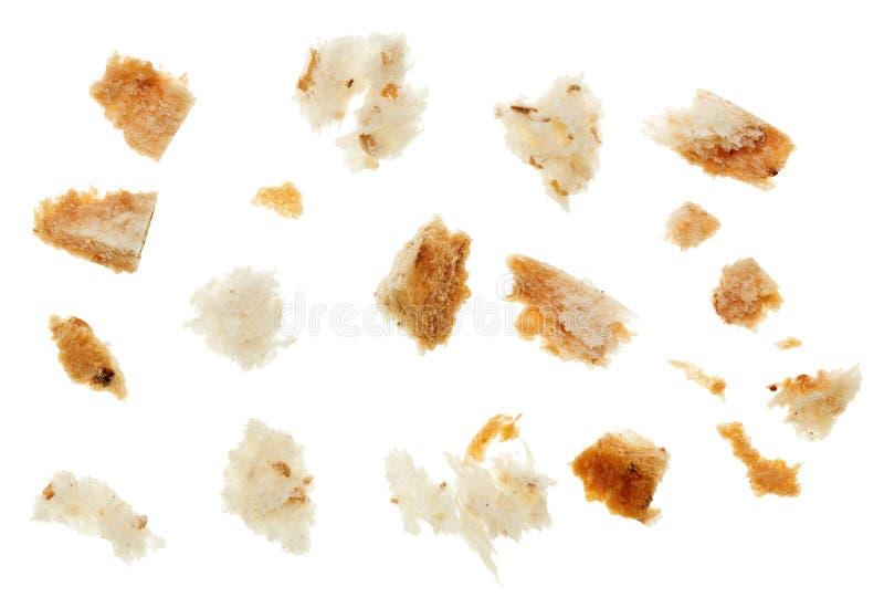 Macro schot van droge broodcrumbs stock foto's