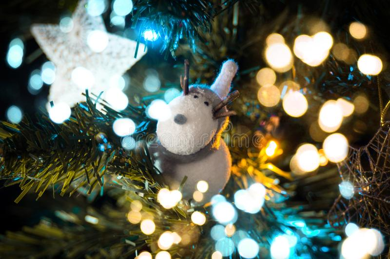 Macro Shift Photography of White Deer Ornament stock image