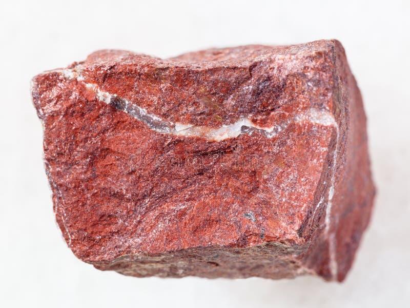 Raw Red Jasper Stone On White Stock Image Image Of