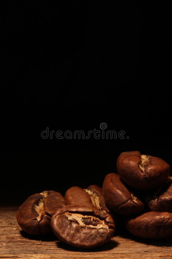 Macro coffee beans stock photography
