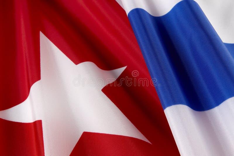 Macro Shot Of Cuban Flag Stock Photo