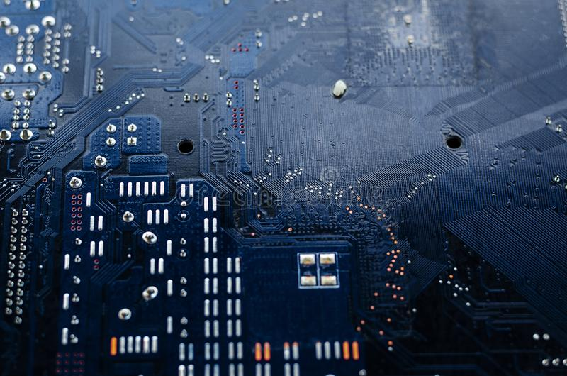 Macro shot of a dirty circuit board royalty free stock images