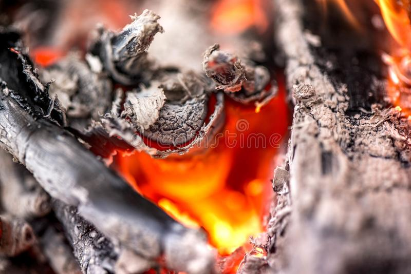 Ignite the fire. Warming up the cold winter nights. stock photo