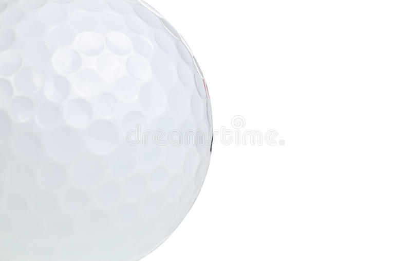 Download Macro Shot Of A Golf Ball Isolated On White Stock Image - Image: 19256229