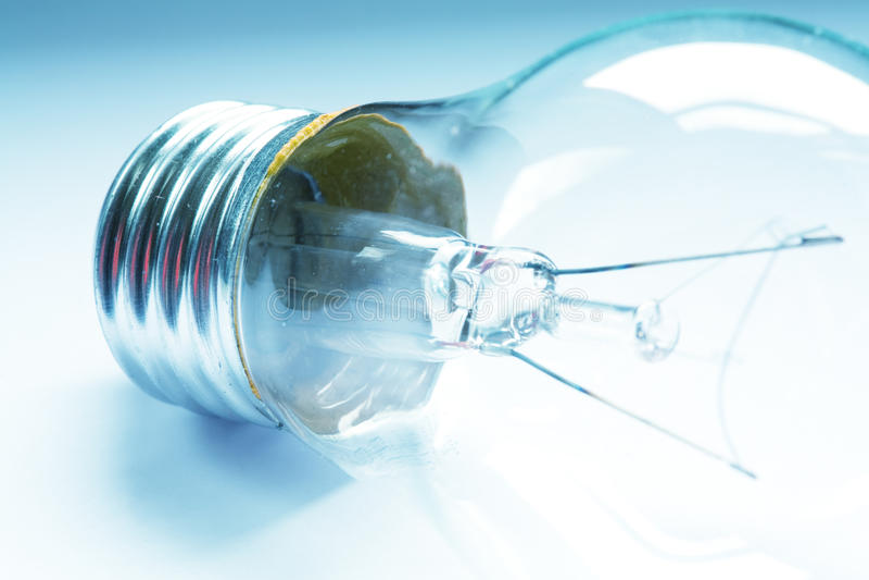 A macro shot of a lightbulb royalty free stock photo