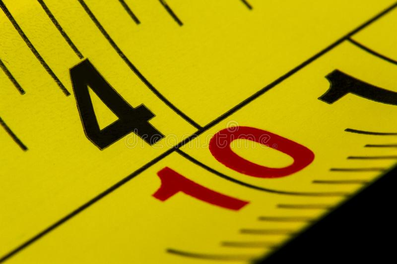 Macro shot measuring tape in a close-up picture royalty free stock photos