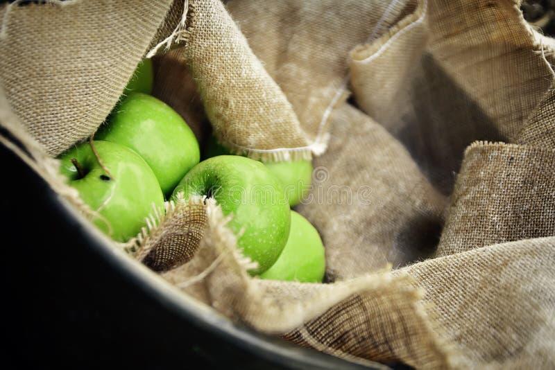 Macro Shot Photo of Green Apples stock photos