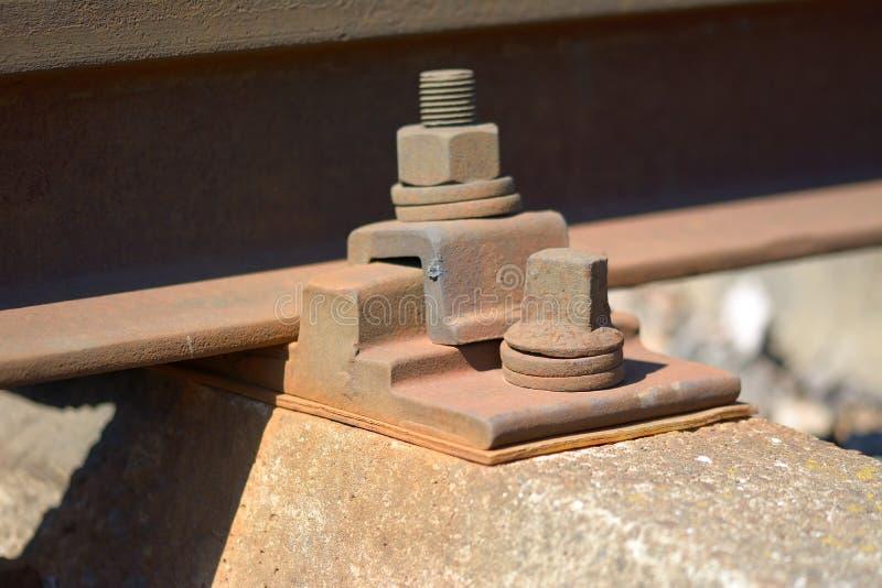 Macro shot of rusty bolt.  royalty free stock image