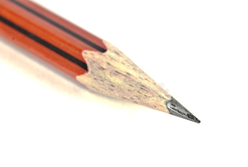 Macro shot of a sharpened pointed lead pencil royalty free stock photography