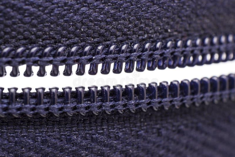 Macro shot of zipper