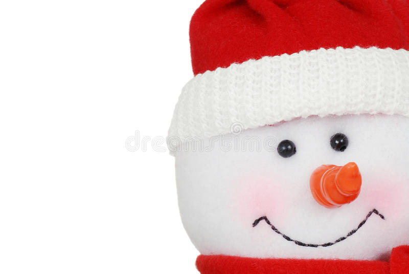 Macro snowman face stock photos