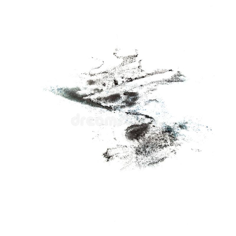 Macro spot blotch The black texture isolated on a white backgro. Und royalty free stock photos