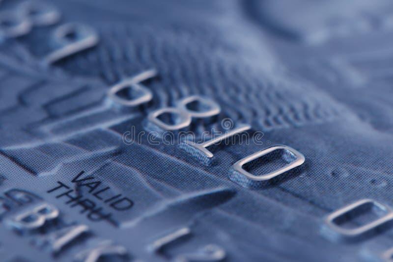 Macro spruit van creditcard royalty-vrije stock afbeelding