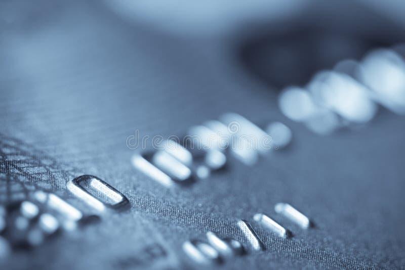 Macro spruit van een creditcard royalty-vrije stock foto's