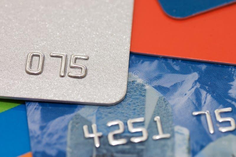 Macro spruit van een creditcard stock foto