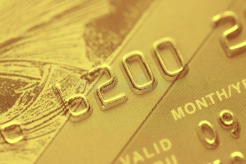 Macro spruit van een creditcard stock afbeeldingen