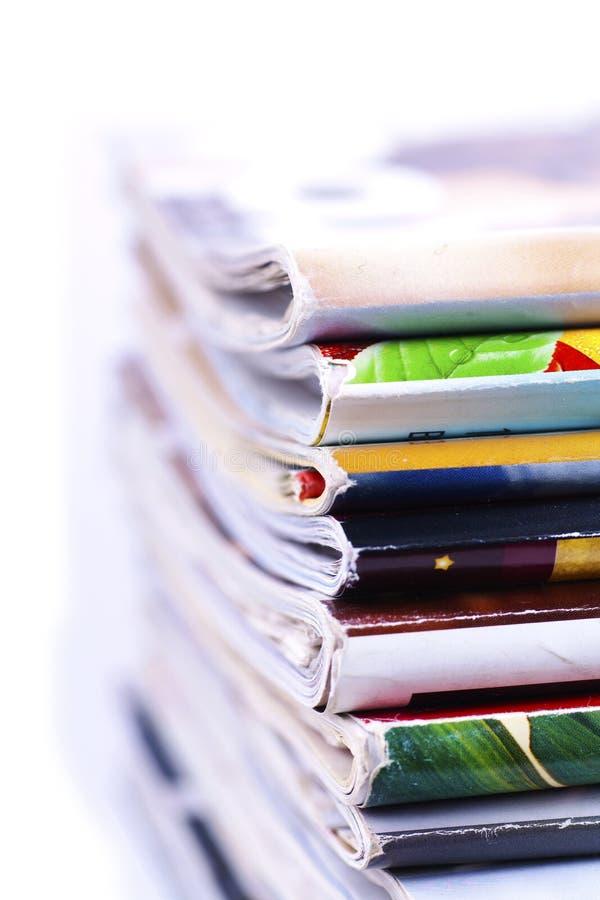 Download Macro Stack Of Magazines Isolated Stock Photo - Image of stack, magazine: 23876394