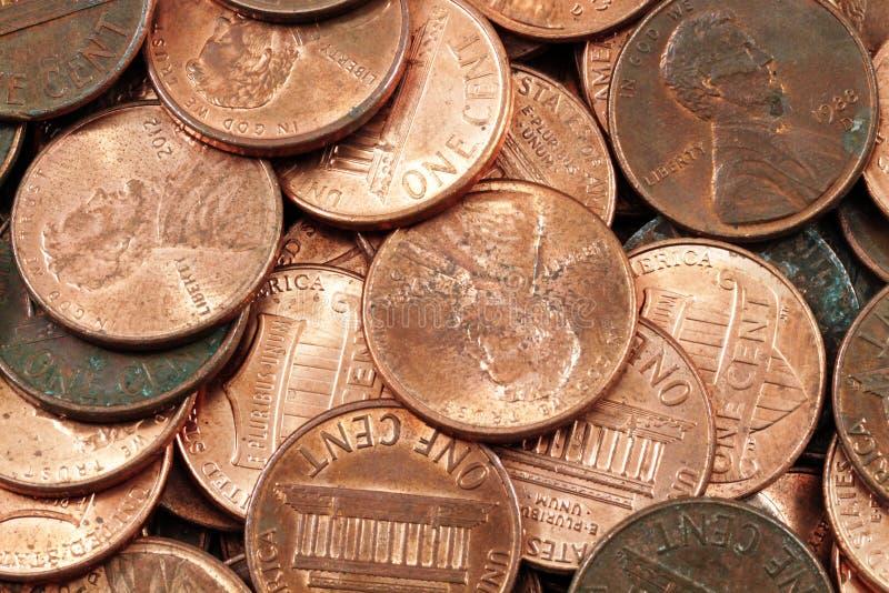 Macro superbe de penny américains images libres de droits