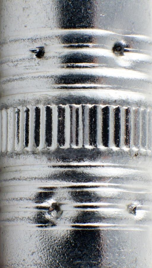 Macro surface métallique photos stock
