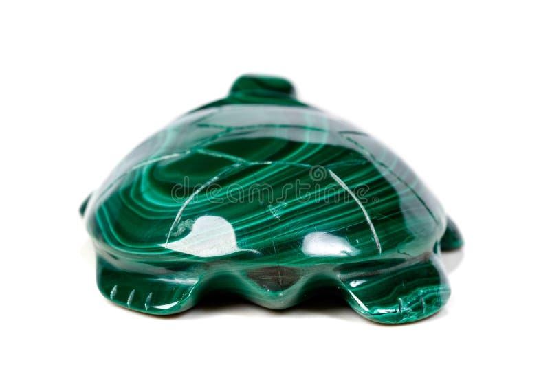Macro tartaruga di pietra minerale da malachite fotografie stock libere da diritti