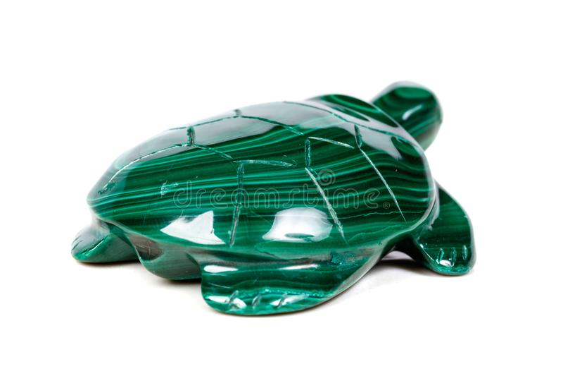 Macro tartaruga di pietra minerale da malachite immagini stock libere da diritti