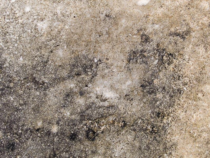 Macro texture - concrete - discolored pavement stock photo