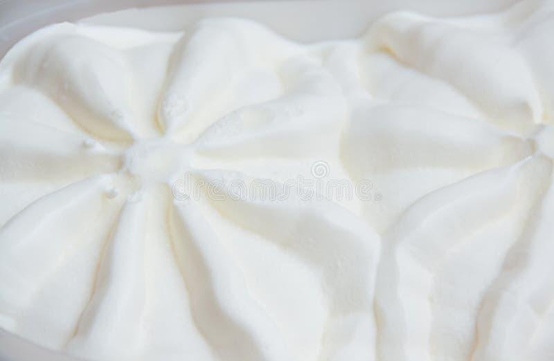 Macro texture détaillée de glace à la vanille photo libre de droits