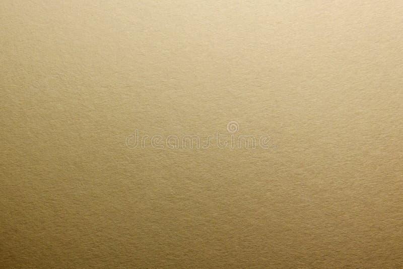 Macro Texture de papier mat naturel Tonalité d'or photos libres de droits