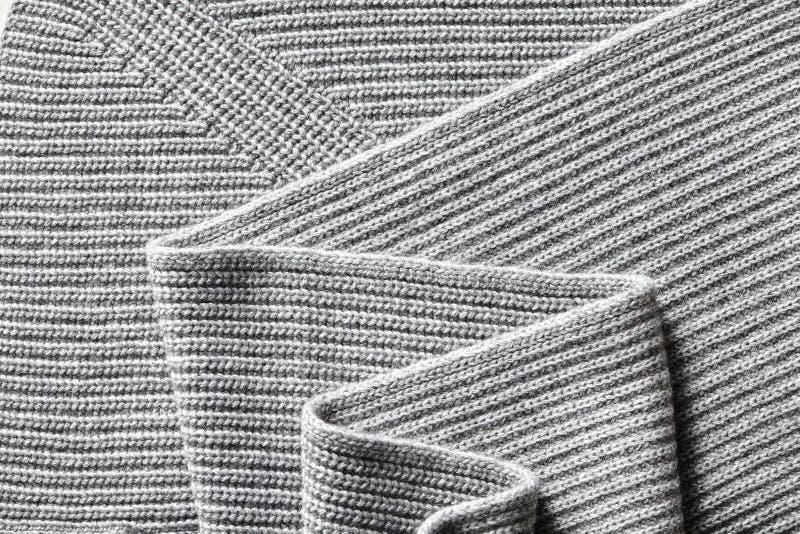 Macro texture de plan rapproché de tissu de coton tricoté photos stock